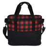 View Image 3 of 5 of Buffalo Plaid Cooler Bag - Embroidered