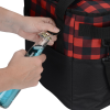 View Image 4 of 5 of Buffalo Plaid Cooler Bag - Embroidered
