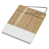 View Extra Image 1 of 1 of Marble and Acacia Wood Cheese Cutting Board