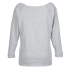 View Image 2 of 3 of Next Level French Terry Raglan 3/4 Sleeve Tee - Ladies'
