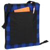 View Extra Image 1 of 5 of Buffalo Check Fold Up Picnic Blanket with Carrying Strap