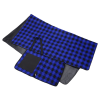 View Extra Image 4 of 5 of Buffalo Check Fold Up Picnic Blanket with Carrying Strap