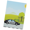 View Extra Image 1 of 2 of Kid's Reusable Sticker Activity Book - Police Station