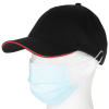 View Extra Image 3 of 3 of Heavyweight Cotton Twill Cap with Face Mask Buttons