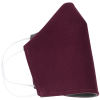 View Image 4 of 5 of Brushed Cotton Twill Face Mask - Embroidered