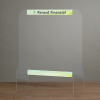 View Extra Image 1 of 1 of Acrylic Clear Counter Window - 28 - 1/4 inches X 24 inches