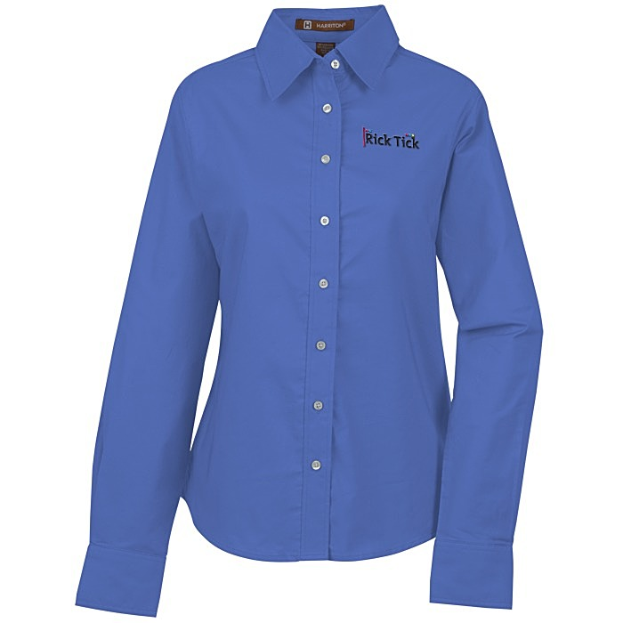 Structure stain release oxford shirt ladies for French blue oxford shirt