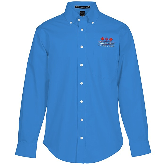 Crown collection solid oxford shirt men 39 s for French blue oxford shirt