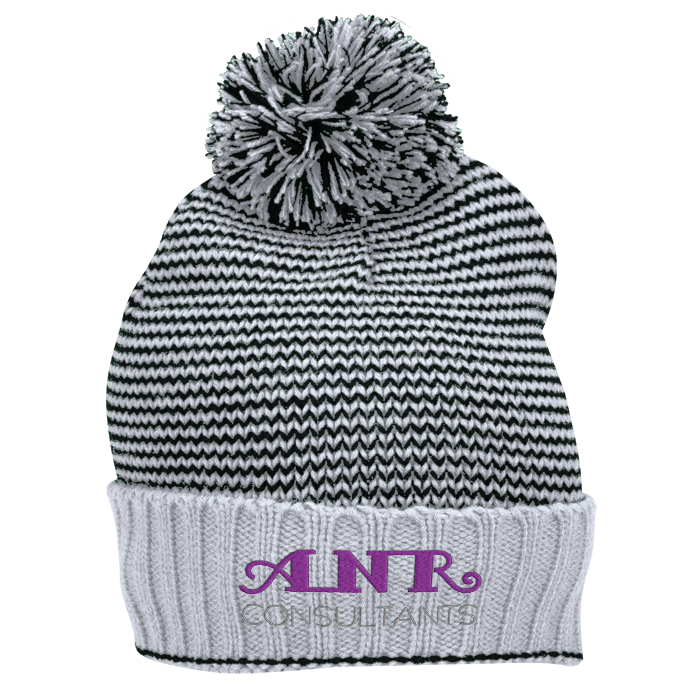online store 29980 3def6 promo code for 4imprint striped yarn cuffed beanie c137355 imprinted with  your 9c696 66548