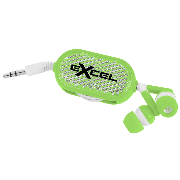 4imprint Ca Retractable Reflective Ear Buds C139959