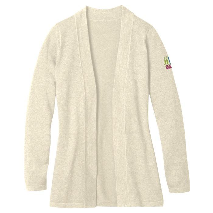 4imprint.ca  Tri-Blend Open Cardigan Sweater C144637 9de0b8a9e