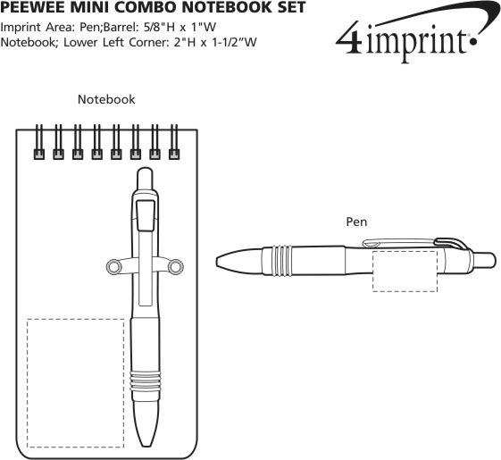 Imprint Area of PeeWee Mini Combo Notebook Set