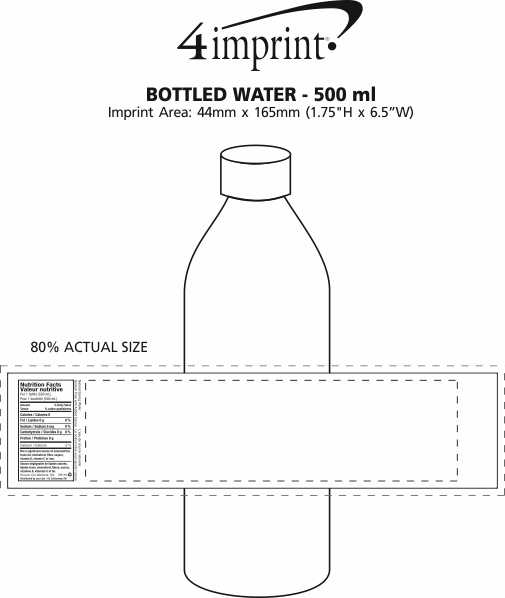 Imprint Area of Bottled Water - 500 ml