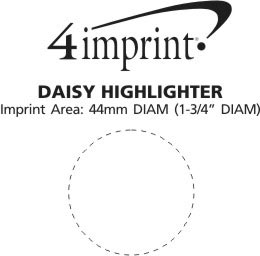 Imprint Area of Daisy Highlighter