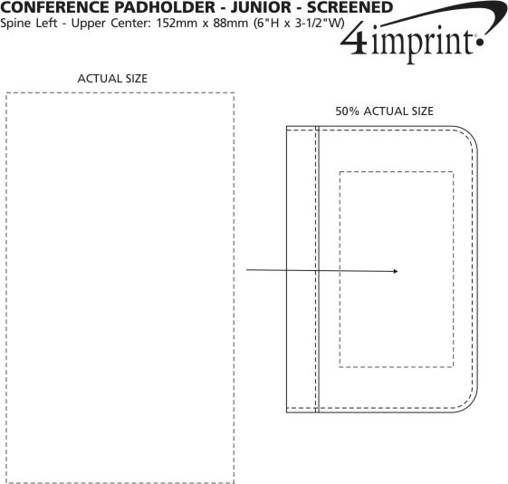 Imprint Area of Conference Padholder with Notepad - Junior - Screen