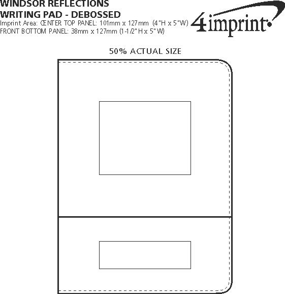 Imprint Area of Windsor Reflections Writing Pad - Debossed