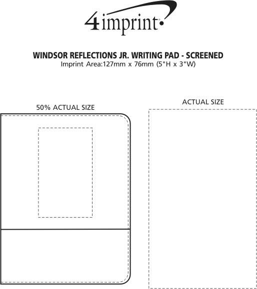 Imprint Area of Windsor Reflections Jr. Writing Pad - Screen