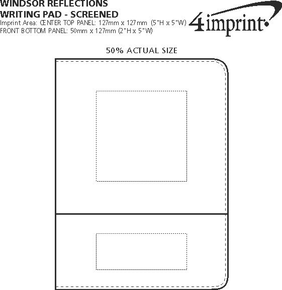 Imprint Area of Windsor Reflections Writing Pad - Screen