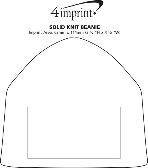 Imprint Area of Fine-Knit Solid Beanie
