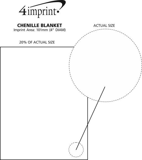 Imprint Area of Chenille Blanket