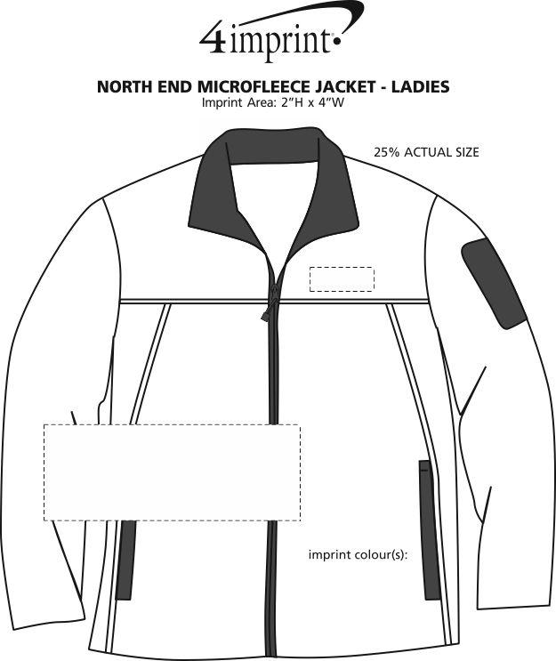 Imprint Area of North End Microfleece Jacket - Ladies'
