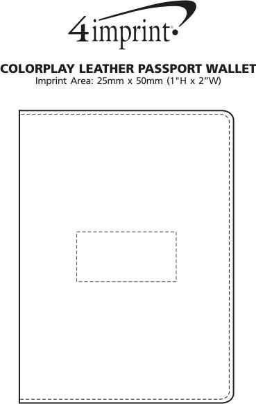 Imprint Area of Colourplay Leather Passport Wallet