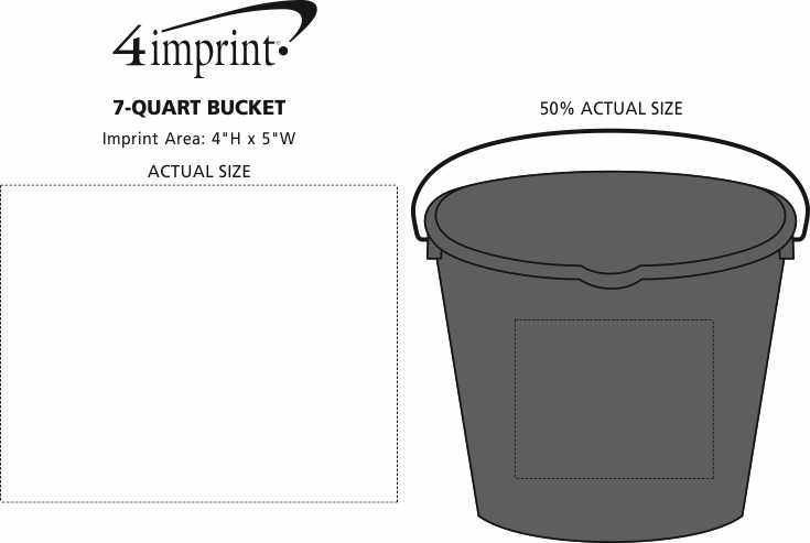 Imprint Area of 7-Quart Bucket