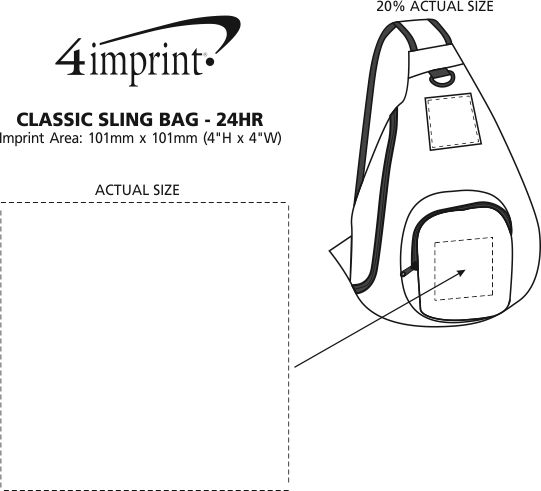Imprint Area of Classic Sling Bag - 24 hr