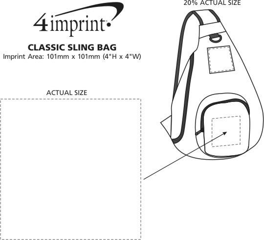 Imprint Area of Classic Sling Bag