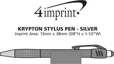 Imprint Area of Krypton Stylus Pen - Silver
