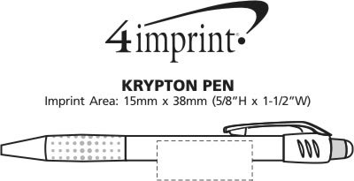 Imprint Area of Krypton Pen