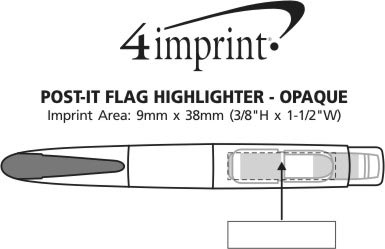 Imprint Area of Post-it® Flag Highlighter - Opaque
