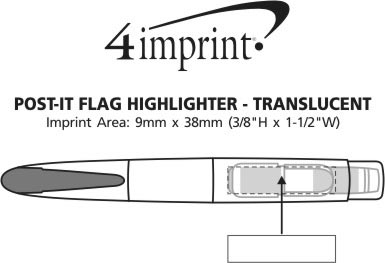 Imprint Area of Post-it® Flag Highlighter - Translucent