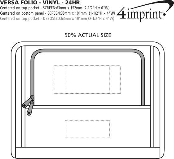 Imprint Area of Versa Folio - Vinyl - 24 hr