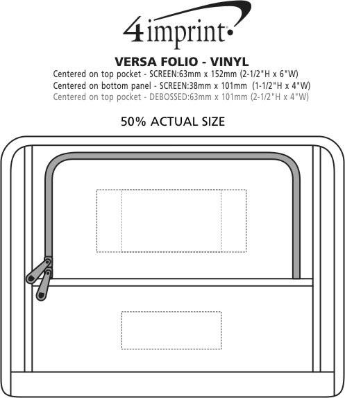 Imprint Area of Versa Folio - Vinyl