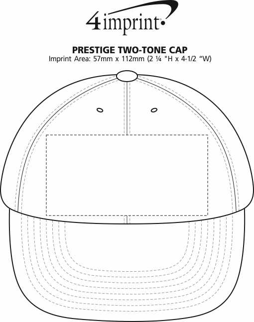 Imprint Area of Prestige Two-Tone Cap