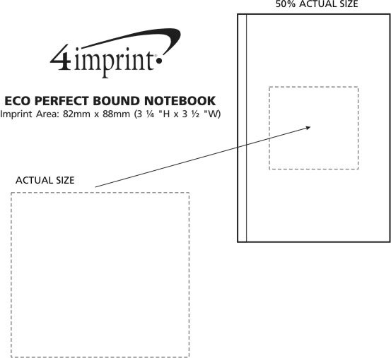Imprint Area of Eco Perfect Bound Notebook