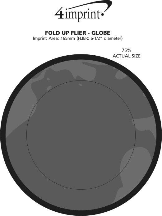 Imprint Area of Fold Up Flyer - Globe