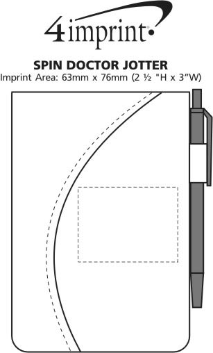 Imprint Area of Spin Doctor Jotter