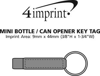 Imprint Area of Mini Bottle/Can Opener Keychain
