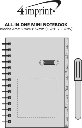 Imprint Area of All-in-One Mini Notebook