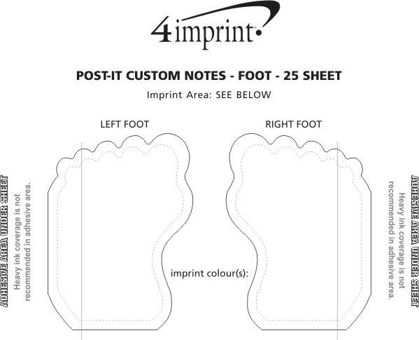 Imprint Area of Post-it® Custom Notes - Foot - 25 Sheet