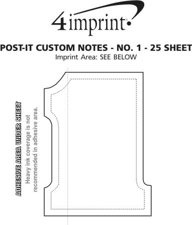 Imprint Area of Post-it® Custom Notes - No 1 - 25 Sheet
