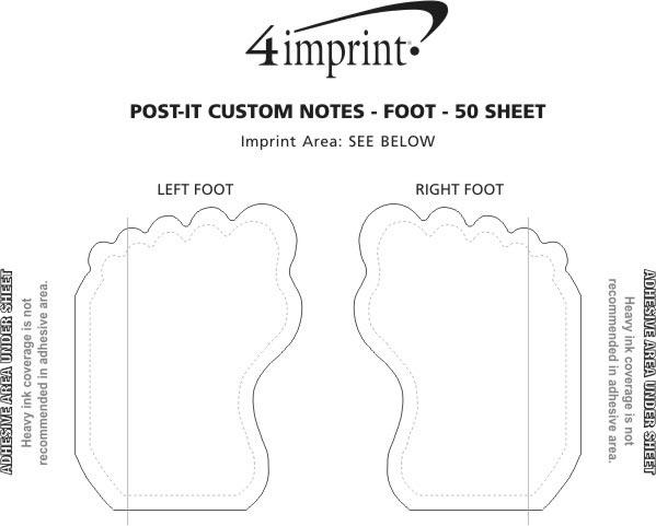 Imprint Area of Post-it® Custom Notes - Foot - 50 Sheet