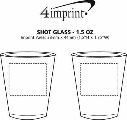 Imprint Area of Shot Glass - 1.5 oz.