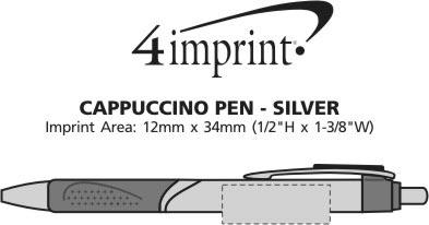 Imprint Area of Cappuccino Pen - Silver - Closeouts