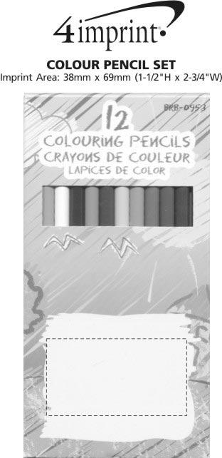 Imprint Area of Colour Pencil Set