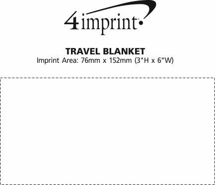Imprint Area of Travel Blanket