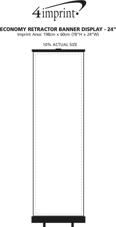 "Imprint Area of Economy Retractor Banner Display - 24"""