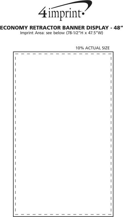 "Imprint Area of Economy Retractor Banner Display - 47-1/4"""